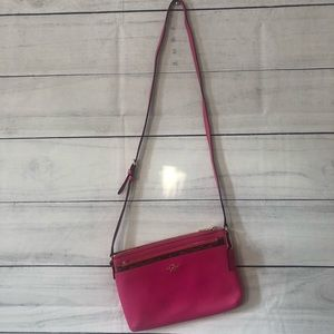 Coach Pink and Brown Crossbody